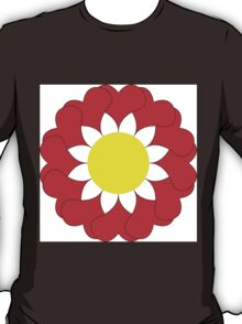 Red flower with heart petals. T-Shirt