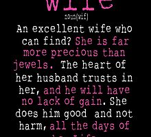 An Excellent Wife Who Can Find? by fancytees