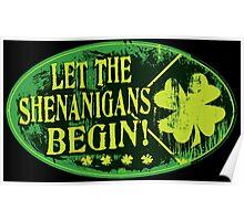 St. Patrick's Day Shenanigans Irish Pranking Poster