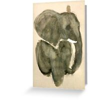 Elephant in Gray Greeting Card