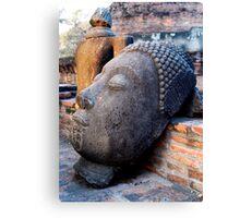 Discarded Buddha Canvas Print