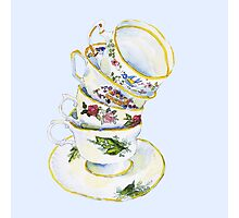 Great Grandma's Teacups Photographic Print