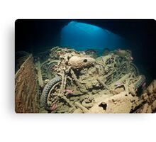 SS Thistlegorm inside - Background Story Canvas Print