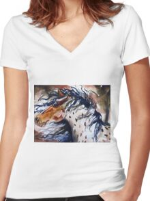 Fury in the Wind Women's Fitted V-Neck T-Shirt
