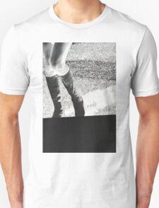 Tall Black Boots Unisex T-Shirt