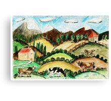 Cow Land Canvas Print