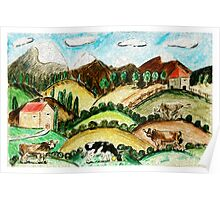 Cow Land Poster