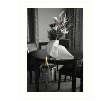 Wedding Flower and Champagne Art Print