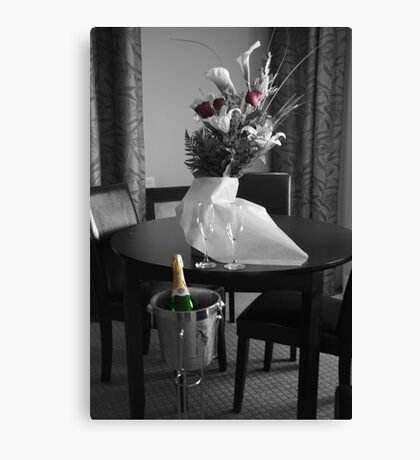 Wedding Flower and Champagne Canvas Print