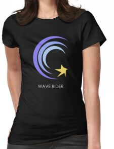 Wave Rider White Womens Fitted T-Shirt