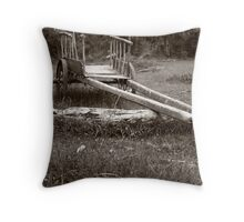 Abandoned tumbril. Throw Pillow