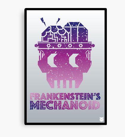 Frankenstein's Mechanoid - 80s Grunge Canvas Print