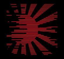 Black modern Japan Flag by Shinja