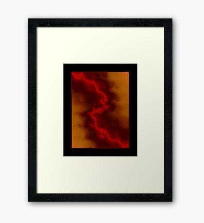 Wildfire Night Framed Print