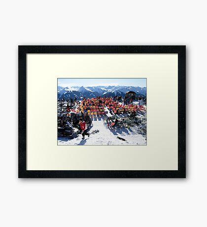 Austrian Alps-Saalbach-Hinterglemm  Framed Print