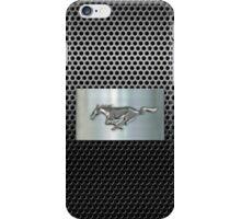 metallic Chrome Silver Stallion  iPhone Case/Skin