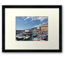 la mia bella ITALIA - CAMOGLI E IL SUO PORTICCIOLO-EUROPA-MONDO -  VETRINA RB EXPLORE APRILE 2013 -              Framed Print