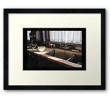 The stone sink Framed Print