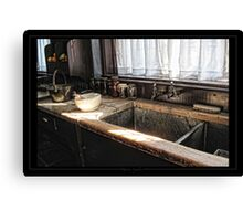 The stone sink Canvas Print