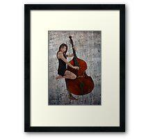 Smooth Jazz Bass Framed Print