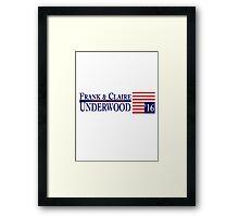Underwood '16 Blue Framed Print