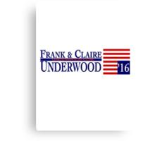 Underwood '16 Blue Canvas Print