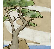 Lone Cypress by CraftsmanArt