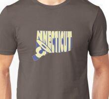 Connecticut State Word Art Unisex T-Shirt