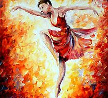 Flaming Dance — Buy Now Link - www.etsy.com/listing/224620941 by Leonid  Afremov