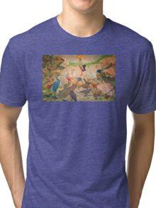 'Birds' Art Nouveau/Vintage Painting (Reproduction) Tri-blend T-Shirt