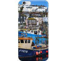 Blue Sky at Mevagissey iPhone Case/Skin