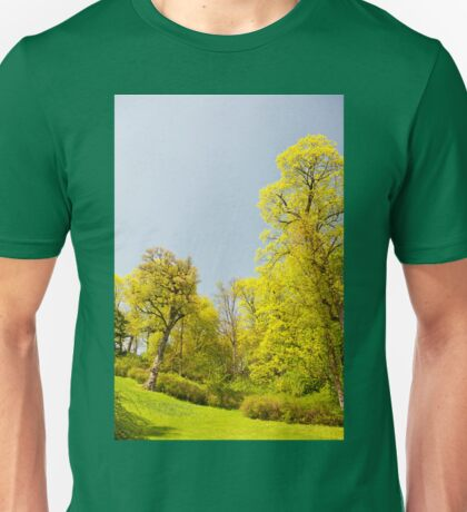 Green spring trees vibrant nature Unisex T-Shirt