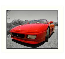 Ferrari 348 Spider Art Print