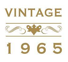 Vintage 1965 Birth Year by thepixelgarden