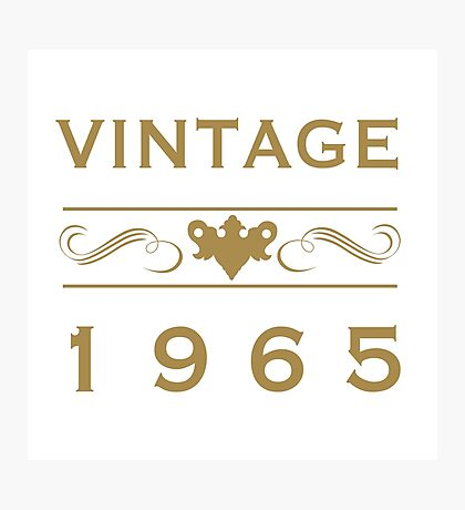 Vintage 1965 Birth Year Photographic Print
