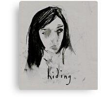 hiding (2014) Canvas Print