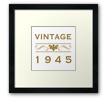 Vintage 1945 Birth Year Framed Print