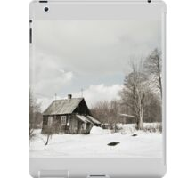 dilapidated wooden house cottage in winter  iPad Case/Skin