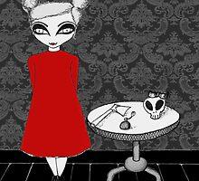 Skull Bow Girl by cserpent
