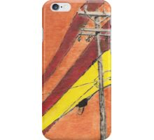 Power Lineage - Ink and Graphite on Wodd Panel iPhone Case/Skin