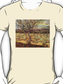 'Apricot Trees In Blossom' by Vincent Van Gogh (Reproduction) T-Shirt