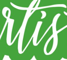 Green Script Artist Sticker