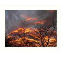 Smokey Sunset Art Print