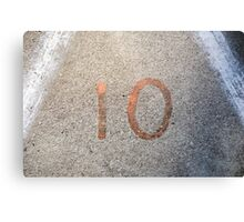 10 Metal Print