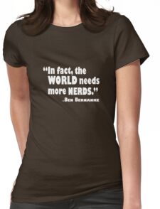 The World Needs More Nerds Womens Fitted T-Shirt