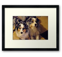 Mellie and Icey Framed Print