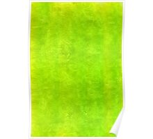 lime watercolor silk  Poster