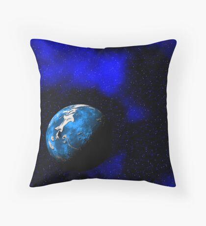Blue World Throw Pillow
