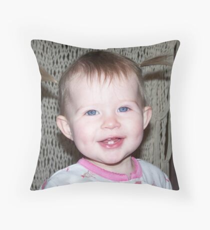 Perfect Babys First Piggys Throw Pillow