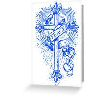 Peace Cross & Banner Greeting Card